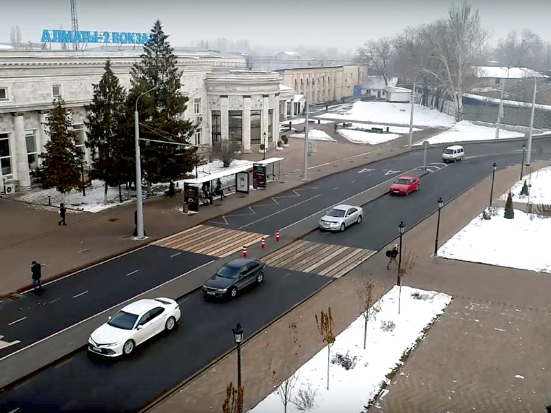 Various BOOS products became part of the appearance of iconic streets in Almaty (Kazakhstan)