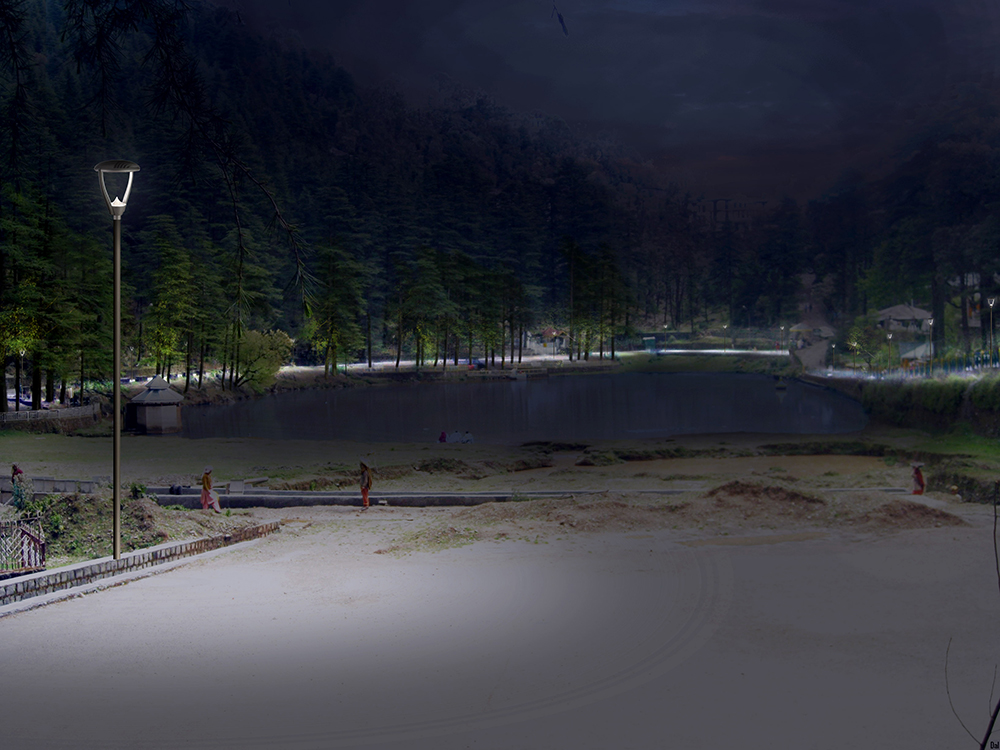 Dal lake lighting concept, India