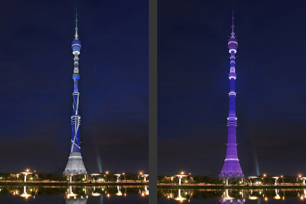 Television tower, Ostankino Moscow and Krasnodar tower, Russia